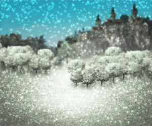 Winter Castle Fantasy Backdrop
