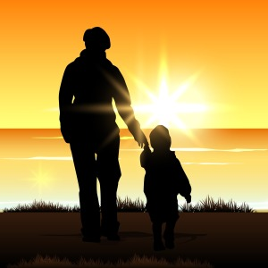 silhouette-of-a-mother-with-her-child-on-evening-background_z1rLssO_